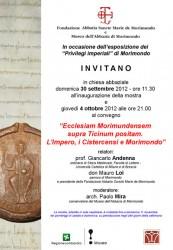 Morimondo : Convegno « L'Impero, i Cistercensi e Morimondo