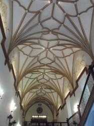 Restauration de la voûte Renaissance de l'hôtel Monasterio de Piedra