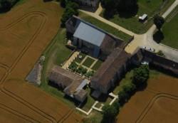 Abbaye de l'Etoile, vue aérienne