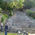 Restauration de l'escalier de Montaigu